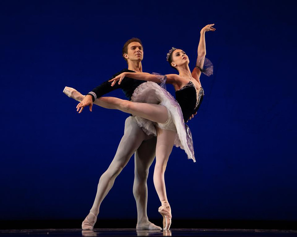 Ballet Manila resident guest principals Katherine Barkman and Joseph Phillips dance the  Grand Pas Classique  in Round III of the USA IBC. Katherine would eventually win the silver in the seniors. Photo by Richard Finkelstein/ USA IBC