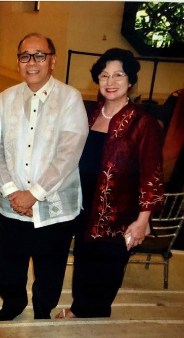 Undersecretary Ernesto C. Abella with Sylvia Lichauco, managing director of Project Ballet Futures, Ballet Manila's scholarship program