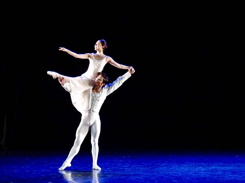 Nanami Hasegawa and BM principal dancer Elpidio Magat dance the  Romeo and Juliet Overture  as part of BM's 23rd season-opener  Iconic 1.0 . Photo by Giselle P. Kasilag