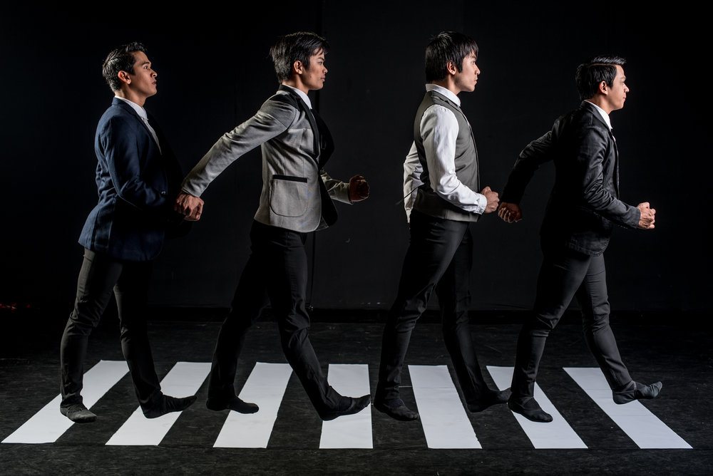 Martin Lawrance's Beatles-inspired  The Winding Road  includes principal dancers (from left) Rudy De Dios, Elpidio Magat, Romeo Peralta and Gerardo Francisco. Photo by Jojit Lorenzo