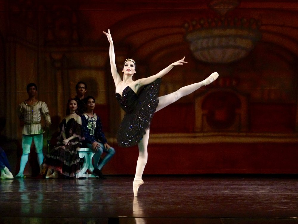 Principal dancer      Joan Emery Sia      is Odile in  Swan Lake  (2017). Photo by Giselle P. Kasilag
