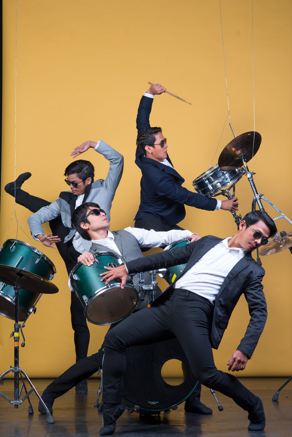 Principal dancers (clockwise from front) Gerardo Francisco, Romeo Peralta, Elpidio Magat and Rudy De Dios channel the Beatles for a photo shoot for  The Winding Road . Photo by Jojit Lorenzo