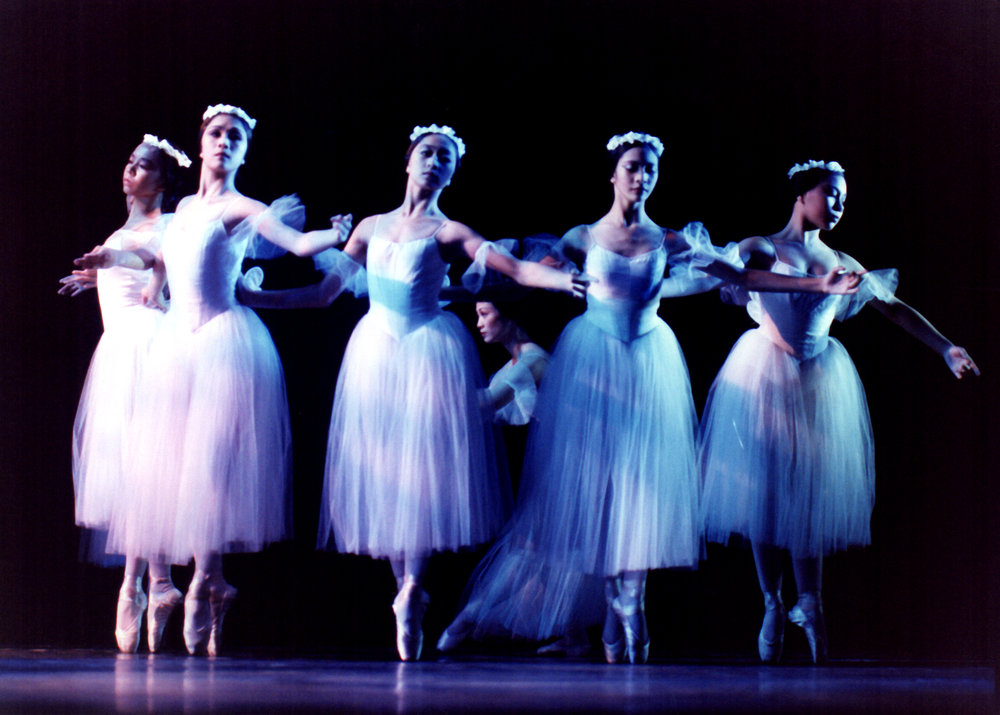 Ballet Manila's corps de ballet in  Les Sylphides , 2000: Young dancers excelling in their coordination, grace and expression. Photo by Ocs Alvarez from the Ballet Manila Archives collection
