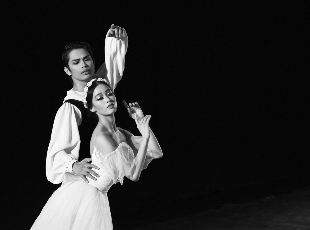 Principal dancers Elpidio Magat and Joan Emery Sia dance as the poet and the sylph at the heart of the classic  Chopiniana . Photo by MarBi Photography