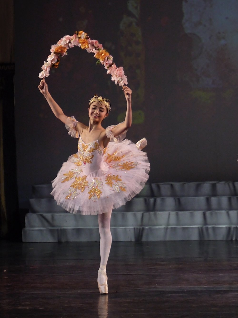 Everything's coming up roses for Sayaka who moved to the Philippines from Japan to pursue a career in ballet. Photo by Giselle P. Kasilag