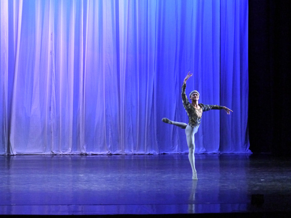 Joshua Enciso gives an outstanding performance as Solor in  La Bayadere  as excerpted in  Deux.