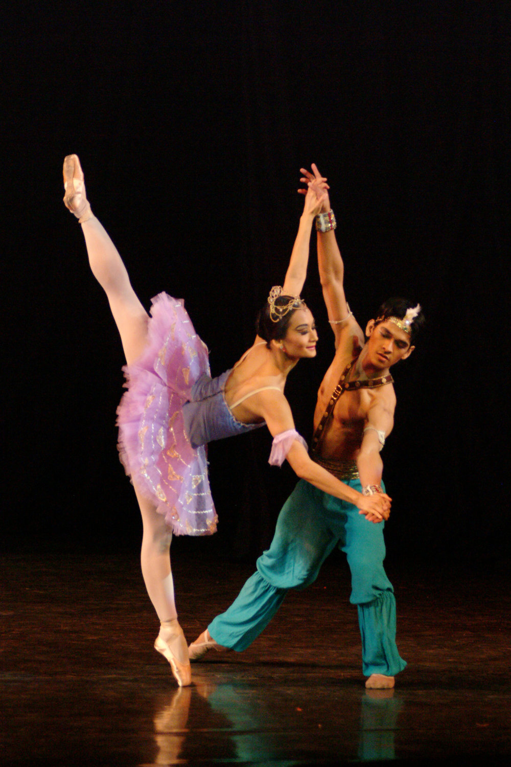 Three months after joining Ballet Manila, Rudy found himself dancing with Lisa as Ali to her Medora in an excerpt of  Le Corsaire.  Photo by Ocs Alvarez.