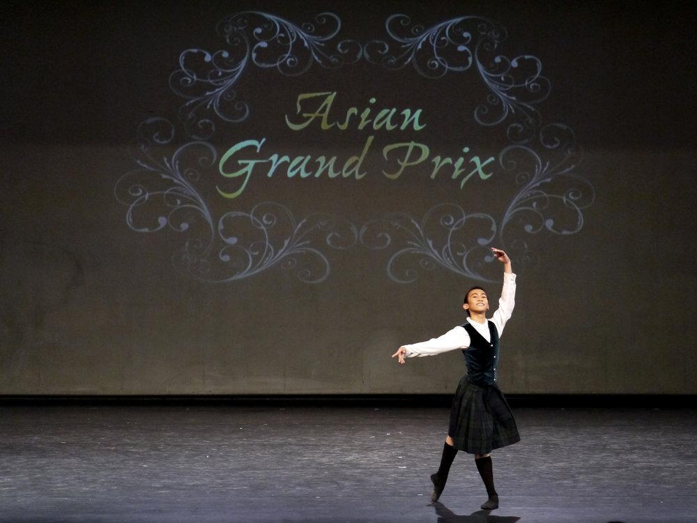 Eduardson Evangelio, third place, Senior, dances the James Variation from  La Sylphide  Act 2. Photo by Giselle P. Kasilag