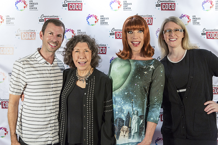 From left to right: Jamie Hebert, Lily Tomlin, Coco Peru & Andrea James