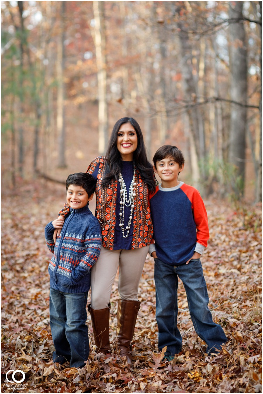 Fall Family Portraits Georgia Woods Leaves_0007.jpg