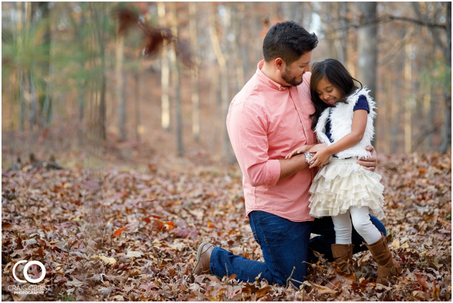 Fall Family Portraits Georgia Woods Leaves_0009.jpg