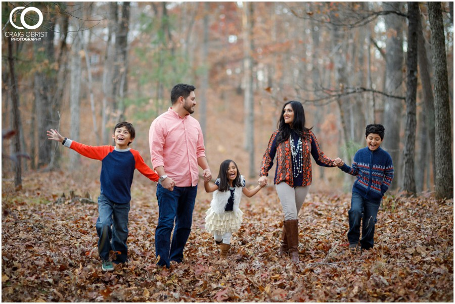 Fall Family Portraits Georgia Woods Leaves_0013.jpg