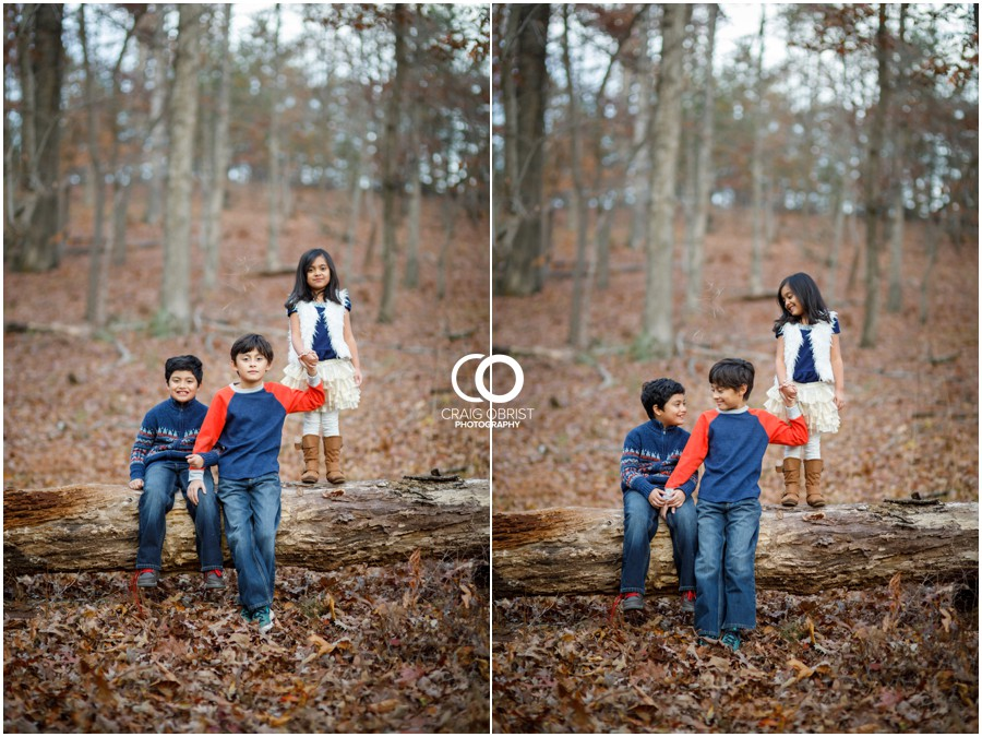Fall Family Portraits Georgia Woods Leaves_0015.jpg
