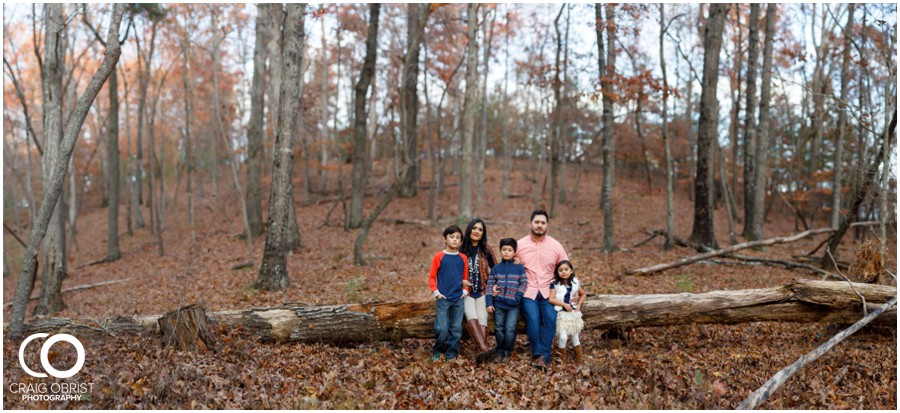 Fall Family Portraits Georgia Woods Leaves_0018.jpg