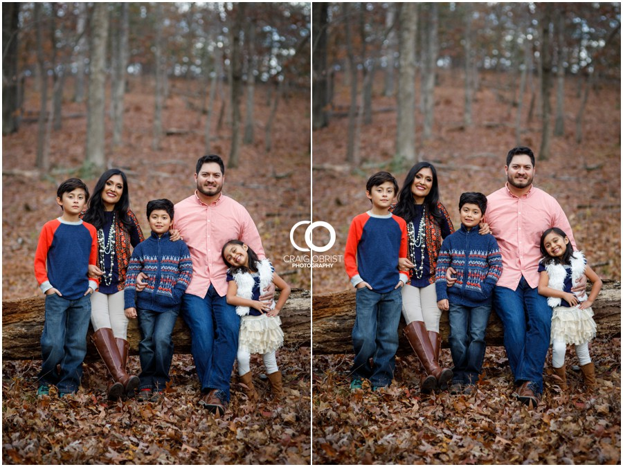 Fall Family Portraits Georgia Woods Leaves_0017.jpg