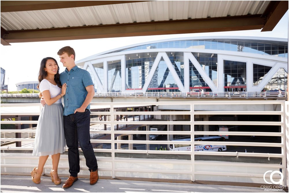Atlanta Philips Arena Skyline Engagement Portraits_0001.jpg