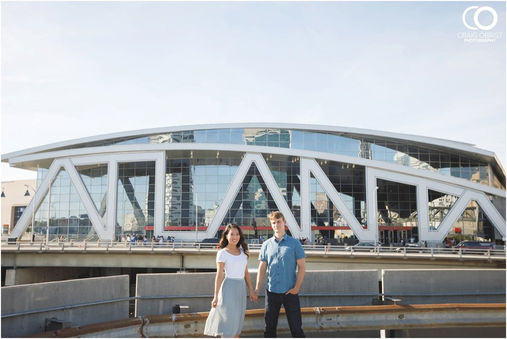 Atlanta Philips Arena Skyline Engagement Portraits_0003.jpg