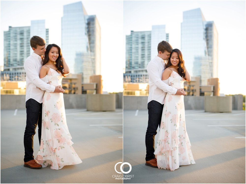 Atlanta Philips Arena Skyline Engagement Portraits_0021.jpg