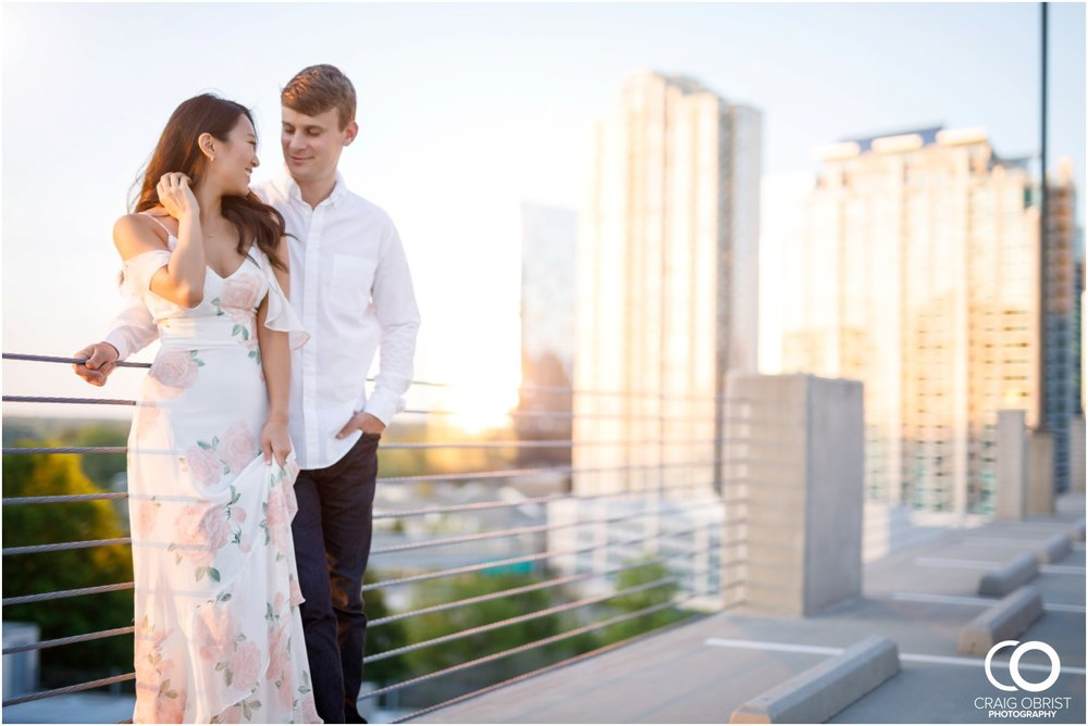Atlanta Philips Arena Skyline Engagement Portraits_0029.jpg