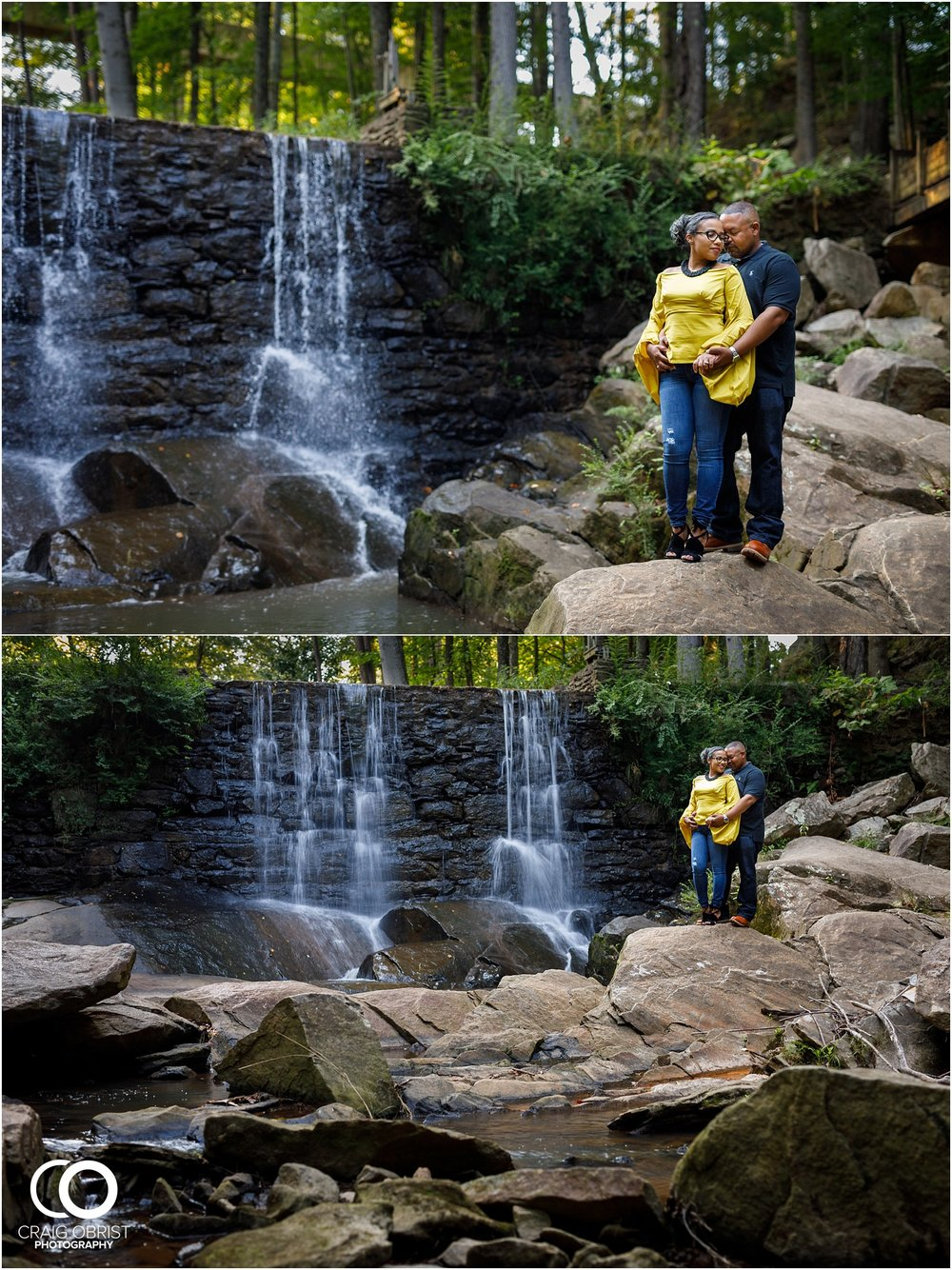Life University Waterfall Marietta Square Engagment Portraits_0005.jpg