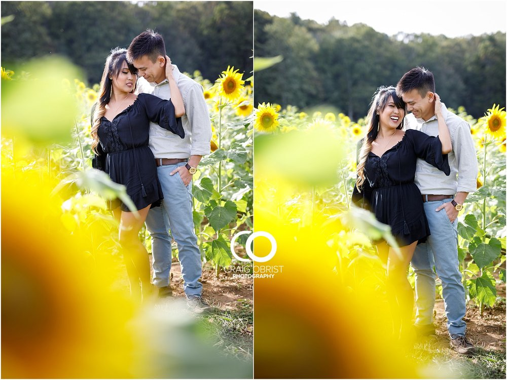 Sunflower field engagement portraits sunset mountains georgia_0003.jpg