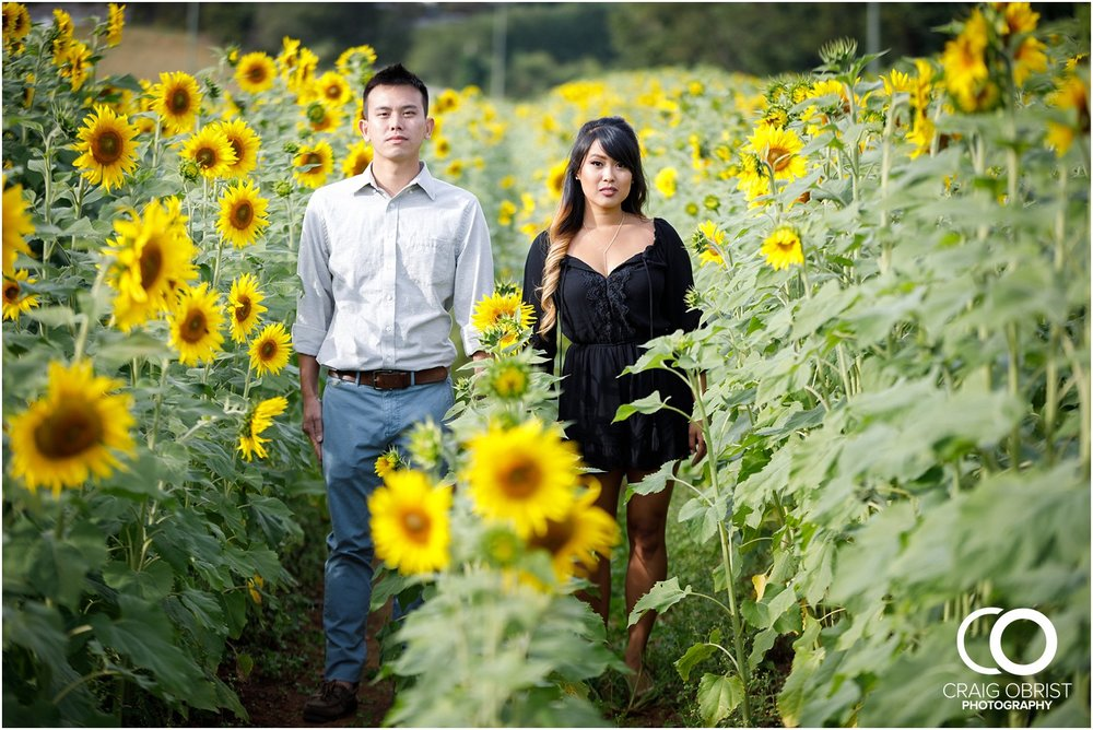 Sunflower field engagement portraits sunset mountains georgia_0010.jpg