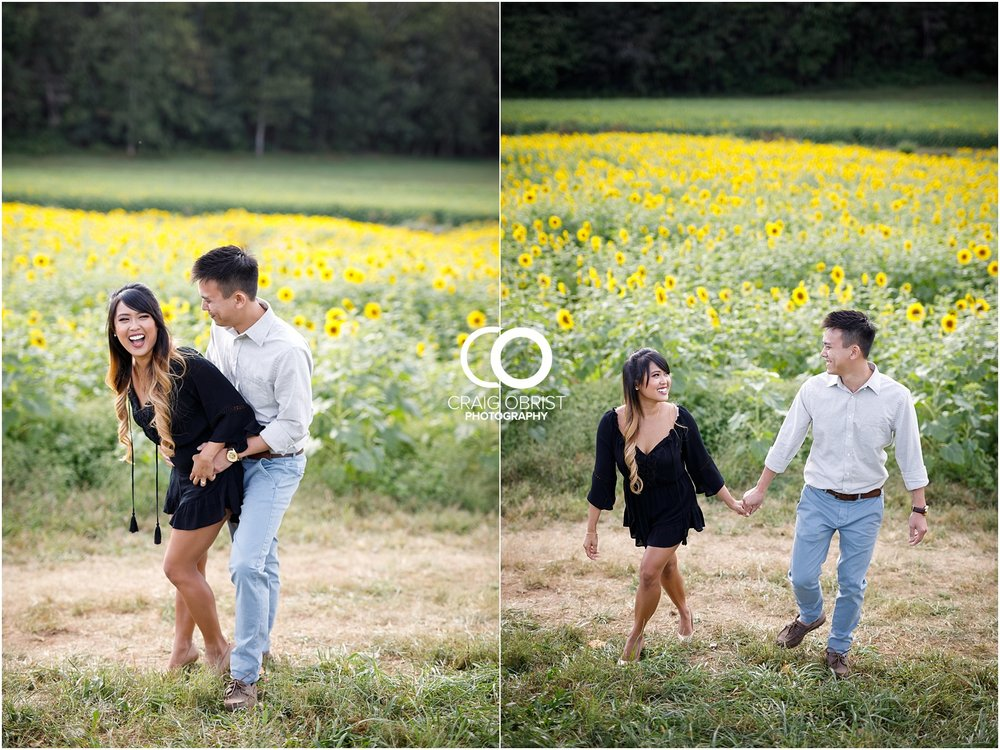 Sunflower field engagement portraits sunset mountains georgia_0015.jpg