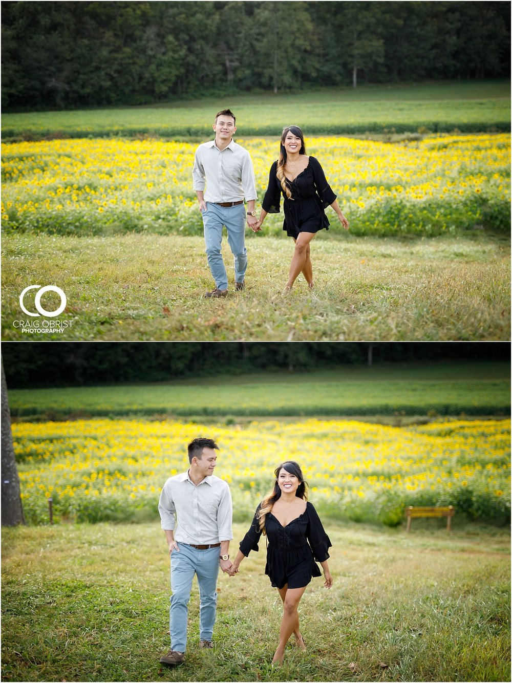 Sunflower field engagement portraits sunset mountains georgia_0019.jpg