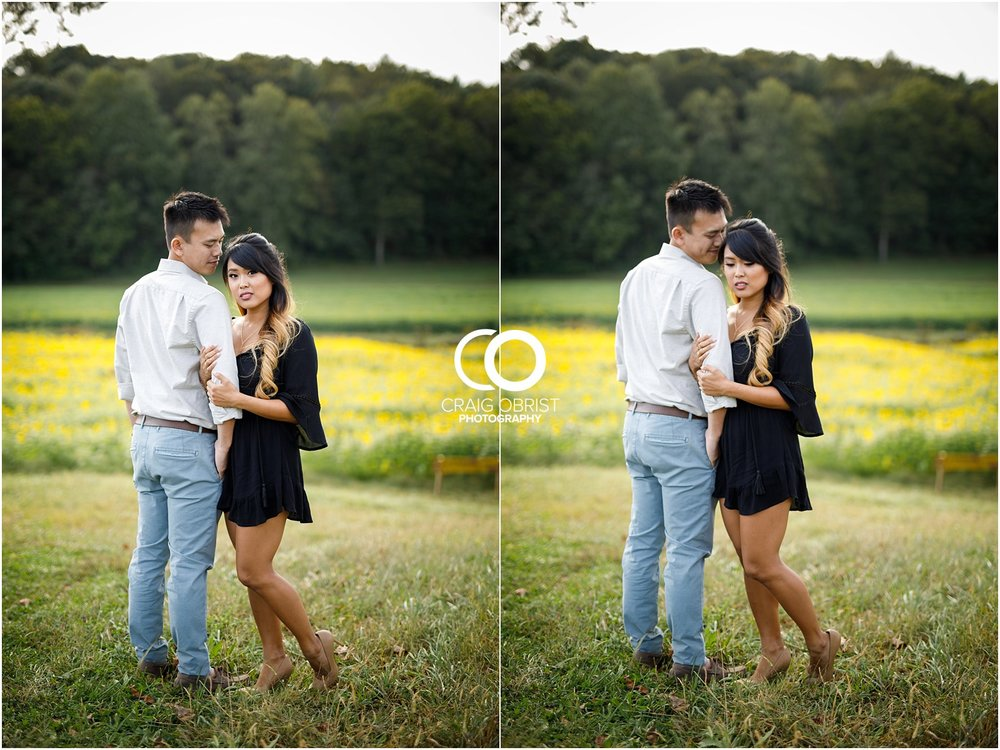Sunflower field engagement portraits sunset mountains georgia_0020.jpg
