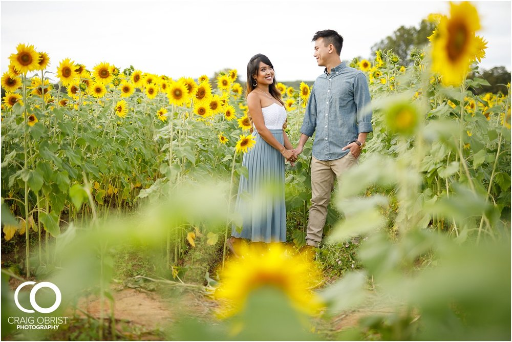 Sunflower field engagement portraits sunset mountains georgia_0030.jpg