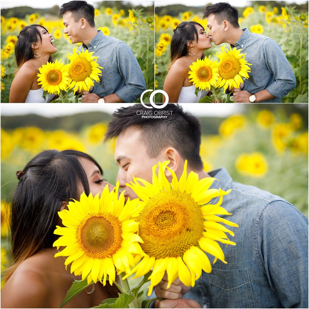 Sunflower field engagement portraits sunset mountains georgia_0032.jpg