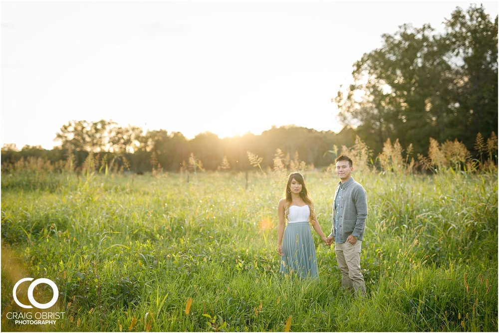 Sunflower field engagement portraits sunset mountains georgia_0041.jpg