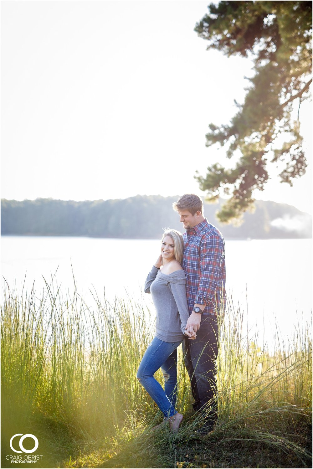 Lake Lanier Chevelle Atlanta Falcons Engagement Portraits_0016.jpg