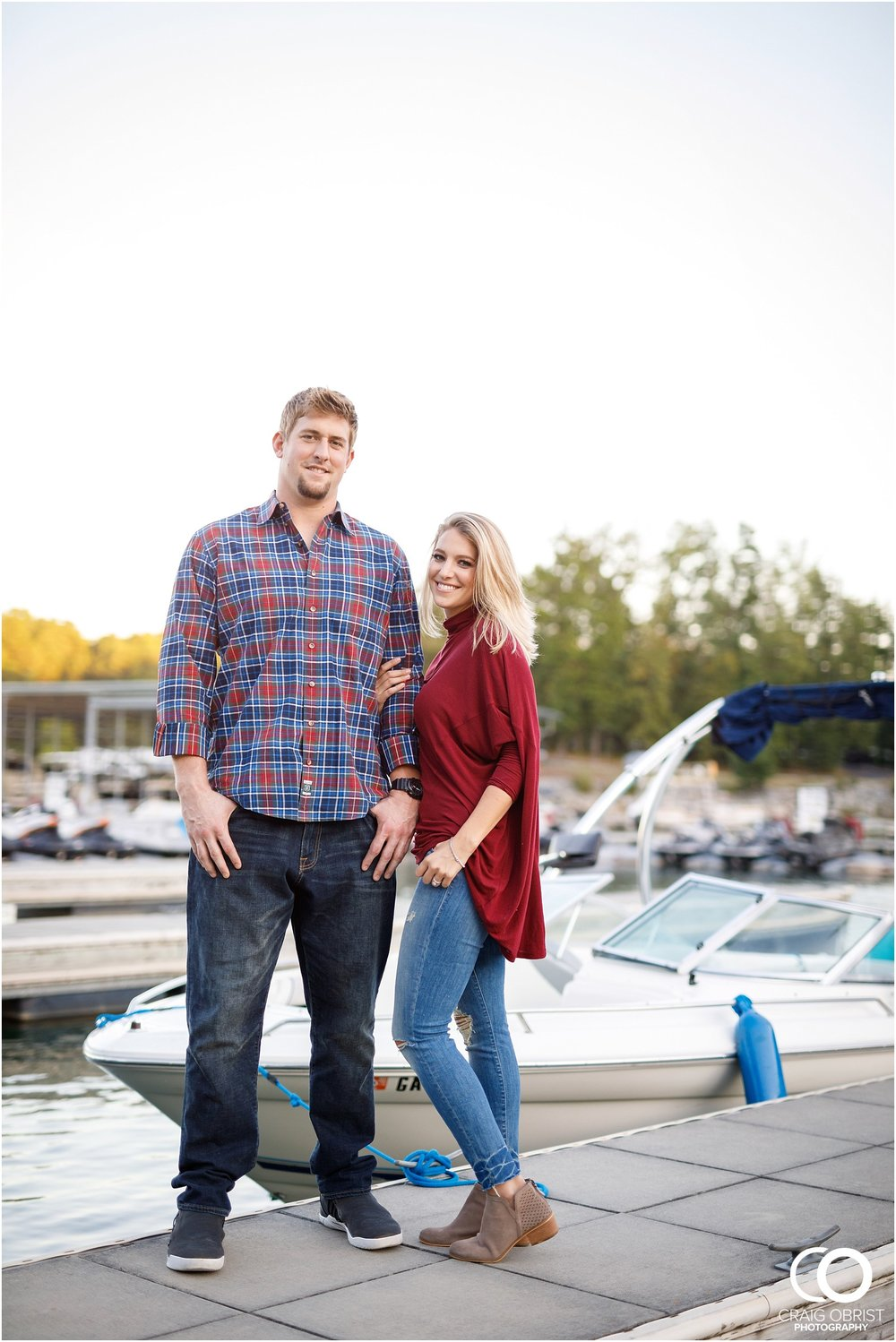 Lake Lanier Chevelle Atlanta Falcons Engagement Portraits_0026.jpg