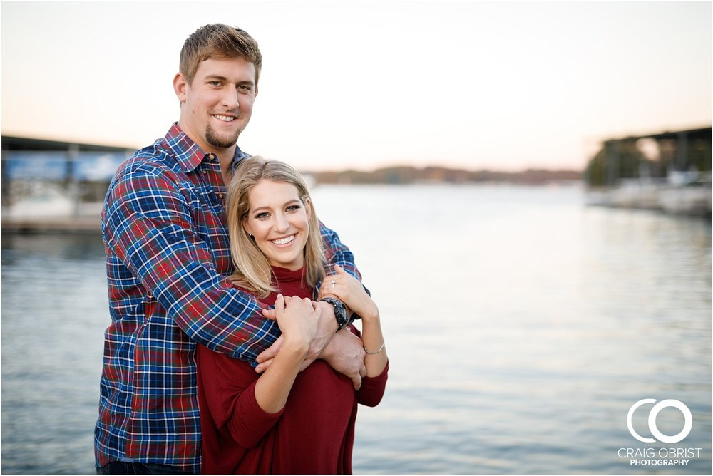 Lake Lanier Chevelle Atlanta Falcons Engagement Portraits_0028.jpg