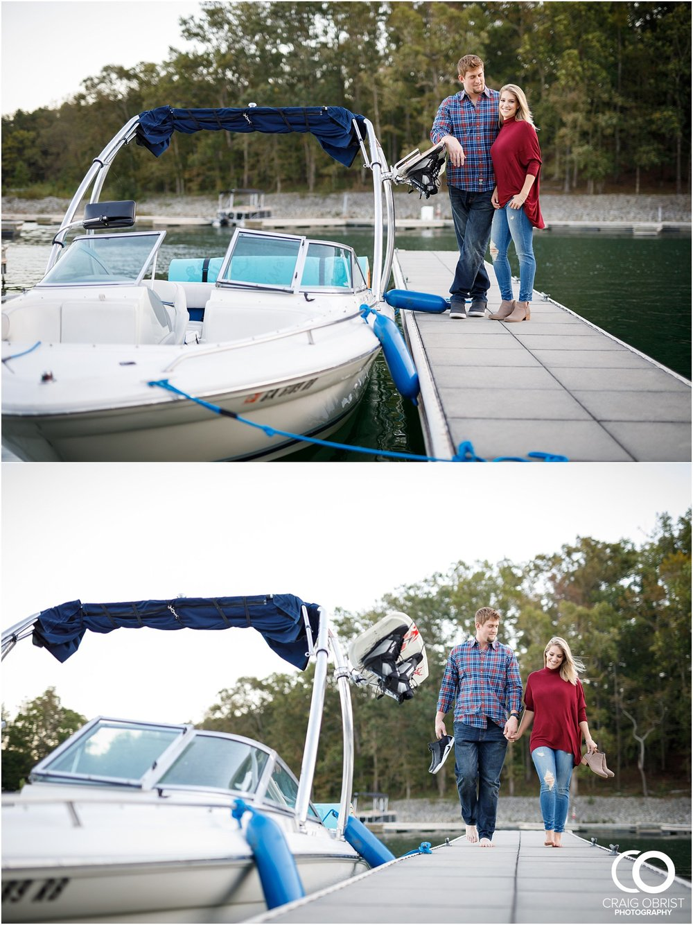 Lake Lanier Chevelle Atlanta Falcons Engagement Portraits_0027.jpg