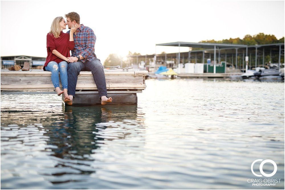 Lake Lanier Chevelle Atlanta Falcons Engagement Portraits_0029.jpg