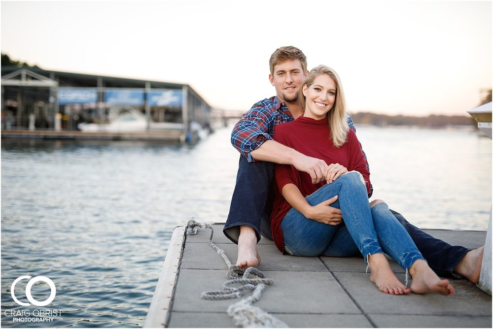 Lake Lanier Chevelle Atlanta Falcons Engagement Portraits_0030.jpg