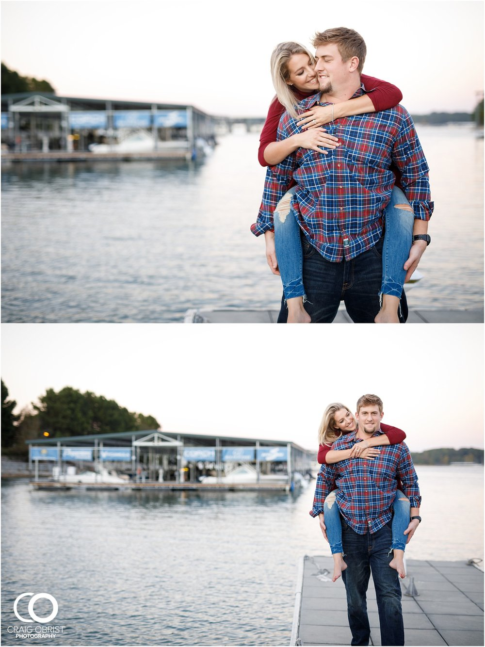 Lake Lanier Chevelle Atlanta Falcons Engagement Portraits_0033.jpg