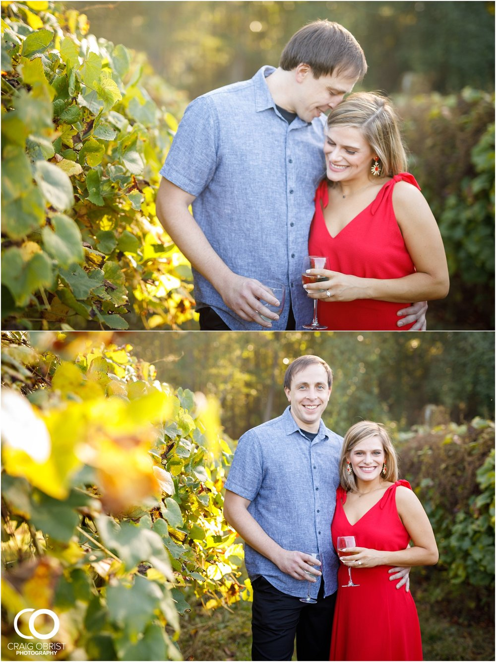 sunflowers fields north georgia engagement portraits wine vineyard_0005.jpg