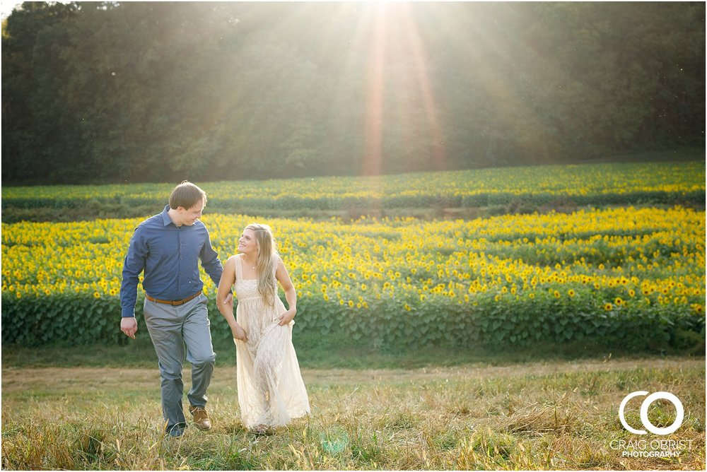 sunflowers fields north georgia engagement portraits wine vineyard_0022.jpg