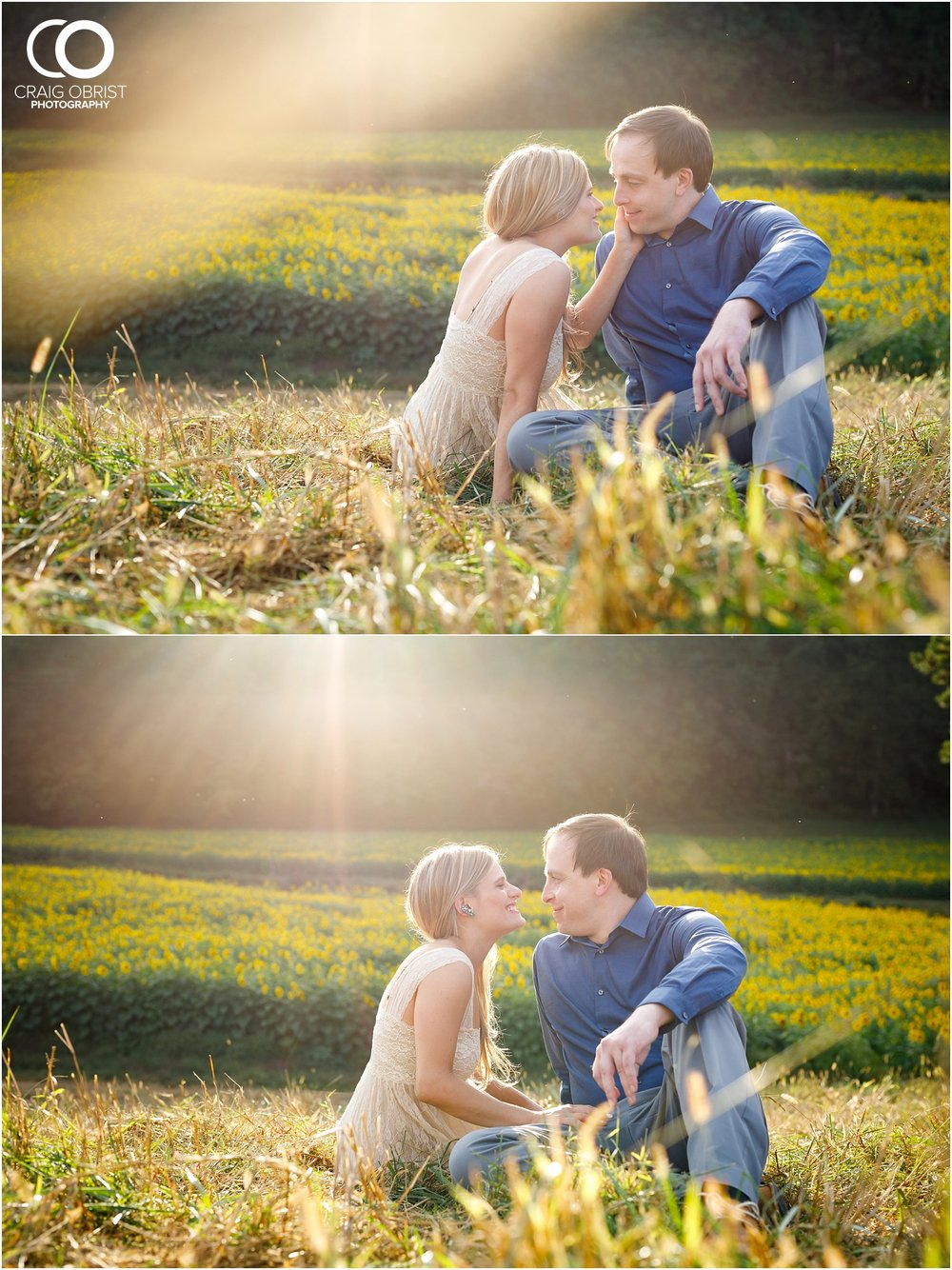 sunflowers fields north georgia engagement portraits wine vineyard_0023.jpg