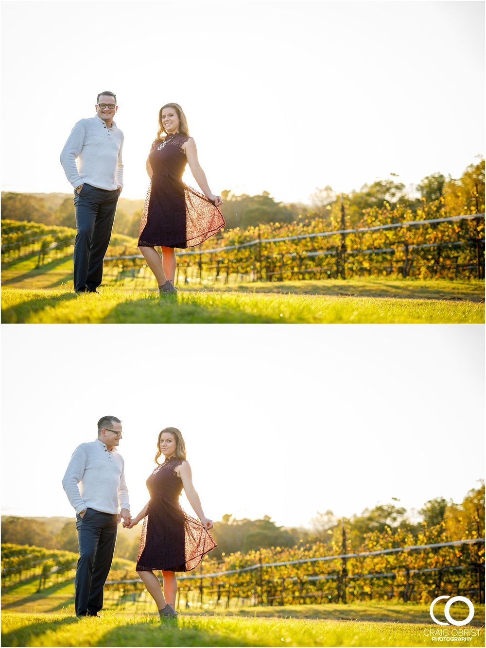 Montaluce Winery Vineyard Georgia Engagement Portraits_0027.jpg