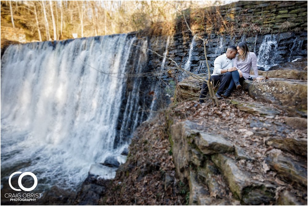 Roswell Mill Waterfall Engagement Portraits Downtown_0004.jpg