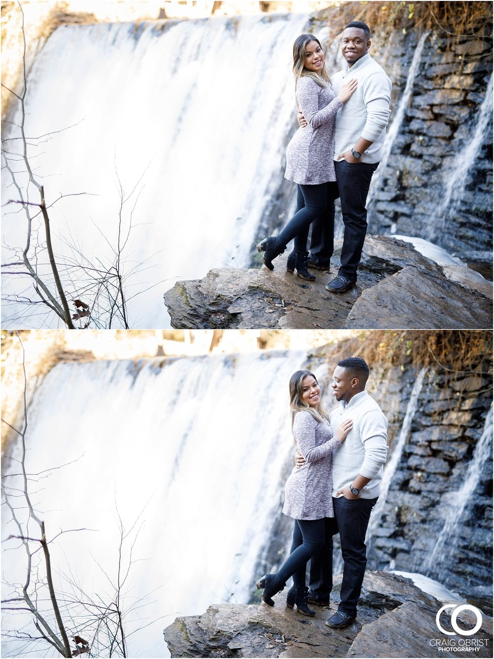 Roswell Mill Waterfall Engagement Portraits Downtown_0006.jpg