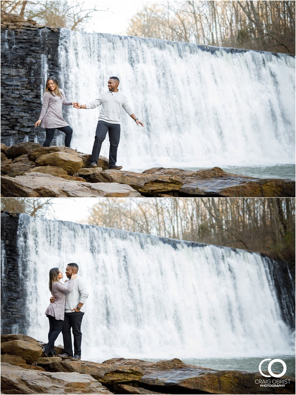 Roswell Mill Waterfall Engagement Portraits Downtown_0014.jpg