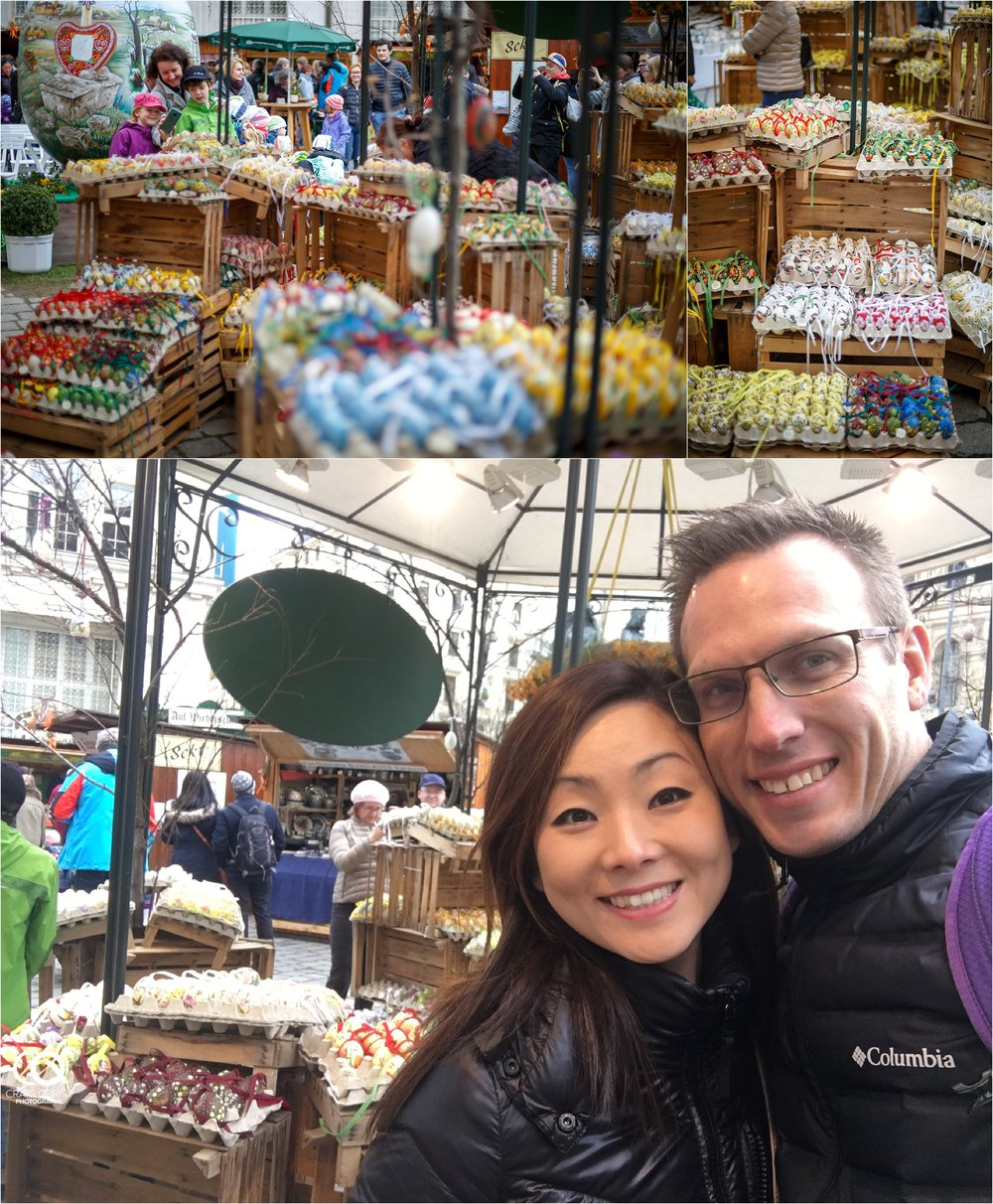 At a Easter market! Yes, we missed Easter with our kids... :(