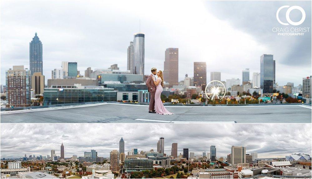 Downtown Decatur Atlanta Skyline Ventanas Helipad Engagement Portraits_0018.jpg