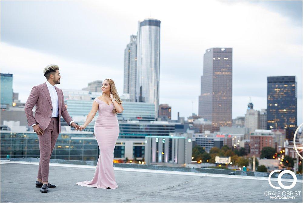 Downtown Decatur Atlanta Skyline Ventanas Helipad Engagement Portraits_0022.jpg
