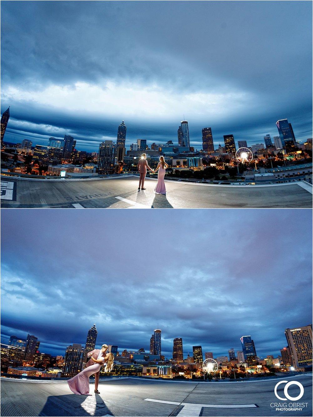 Downtown Decatur Atlanta Skyline Ventanas Helipad Engagement Portraits_0035.jpg